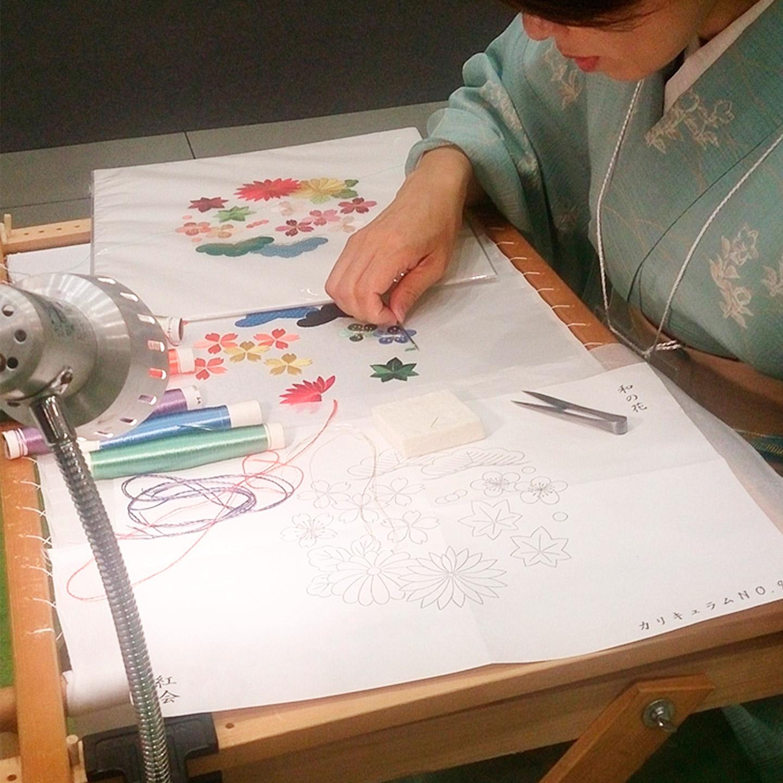 ものづくり匠の技の祭典2016で絹糸を使った日本刺繍