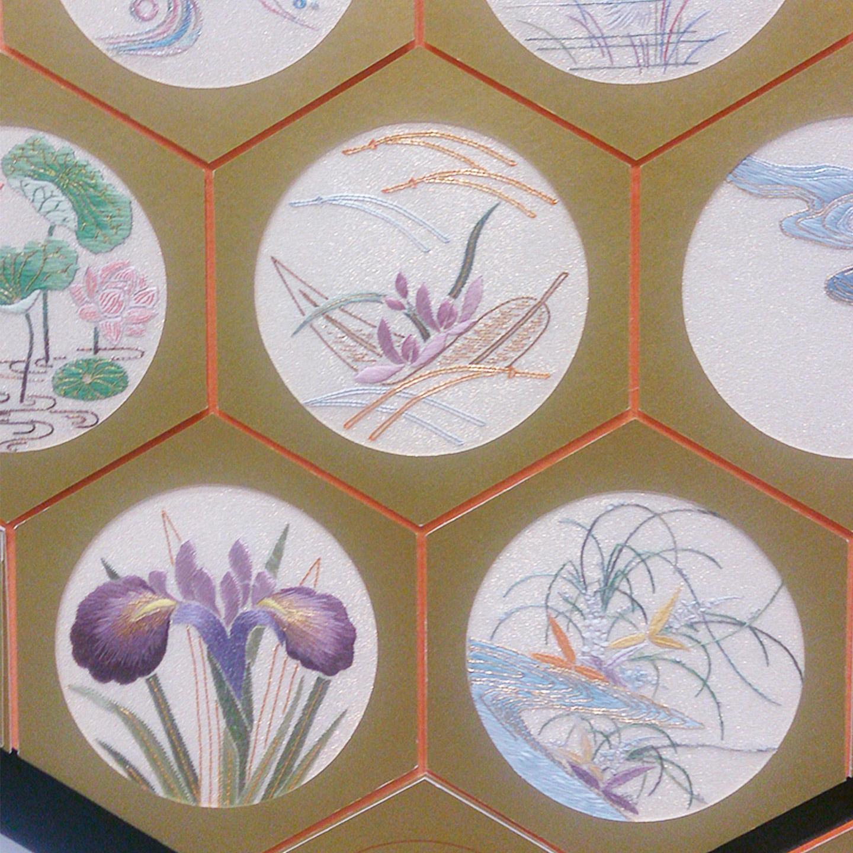 日本刺繍紅会の作品(一部)
